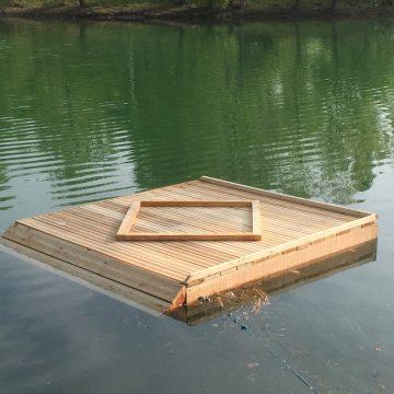 Radeau pour les tortues cistudes – étang de Fallavier