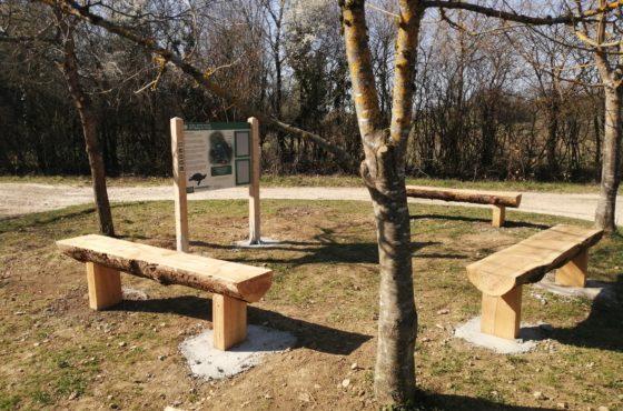 Bancs à l'étang de Lemps – Optevoz