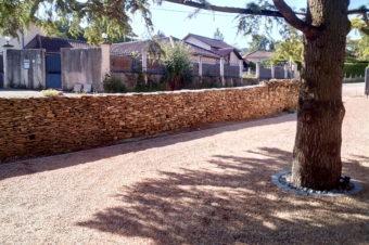 Mur de soutènement communal – Chozeau
