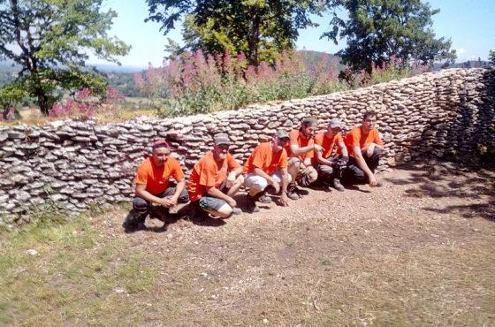 Restauration d'un mur de soutènement en pierres sèches – Saint-Hippolyte