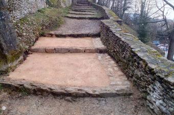 Création d'une marche – Montée de Saint-Hippolyte