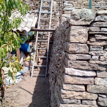 Restauration d'un mur de soutènement – Crémieu